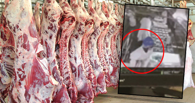 Et üretim fabrikasında mide bulandıran idrar görüntüleri!