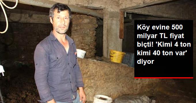 Defineci, Altında 40 Ton Altın Olduğu Söylenen Köy Evine 500 Milyar TL Fiyat Biçti