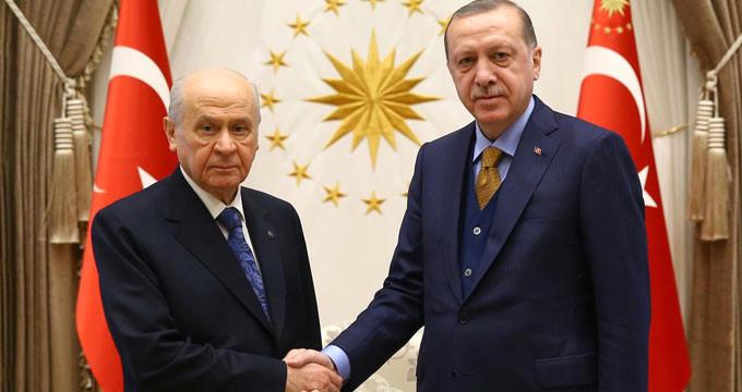 Erdoğan'ın afla ilgili sert çıkışına Bahçeli'den yanıt geldi