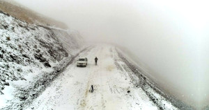 Görüntü bugün Türkiyede çekildi! Kara kış fena bastırdı