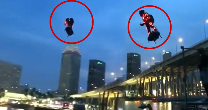 Trafik derdine son! Sosyal medya, işe uçarak giden adamı konuşuyor
