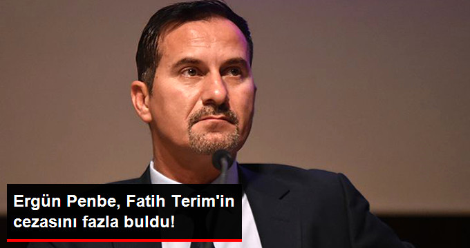 Ergün Penbe, Fatih Terim in cezasını fazla buldu!