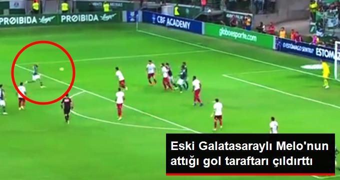 Eski Galatasaraylı Melo nun attığı gol taraftarı çıldırttı