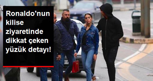 Cristiano Ronaldo, Nişanlısıyla Kiliseyi Ziyaret Etti! Georgina Rodriguez'in Yüzüğü Dikkatlerden Kaçmadı