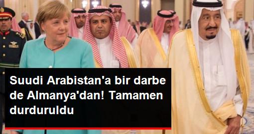 Almanya, Suudi Arabistan'a Silah İhracatını Durdurdu