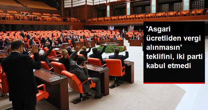 İYİ Parti'nin 'Asgari Ücretliden Vergi Alınmasın' Araştırma Önergesi Reddedildi