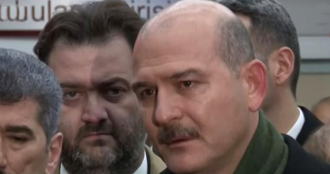 Türkiye'yi sarsan olayın merkezine giden Soylu, gözyaşlarını tutamadı