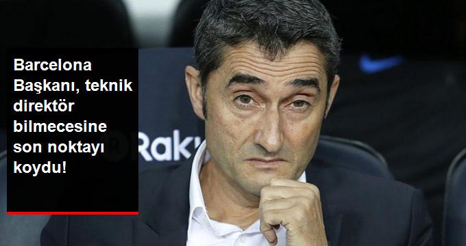 Barcelona Başkanı, teknik direktör bilmecesine son noktayı koydu!