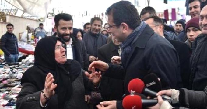 CHP'li İmamoğlu ile yaşlı kadın arasında ilginç diyalog: Sana oy vermem