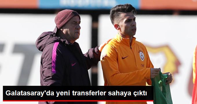 Galatasaray da yeni transferler sahaya çıktı