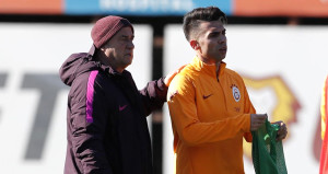 Galatasarayda yeni transferler sahaya çıktı