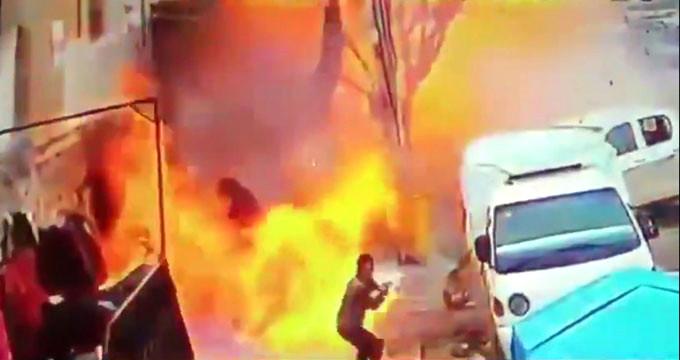 Münbiç'te ABD askerlerini hedef alan saldırı kamerada