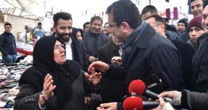 AK Partili teyze ile CHP'li İmamoğlu'nun diyaloğu kırdı geçirdi