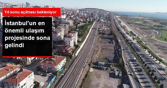 İstanbul'un En Önemli Ulaşım Projelerinden Olan Halkalı-Gebze Banliyö Hattının Yıl Sonu Açılması Bekleniyor