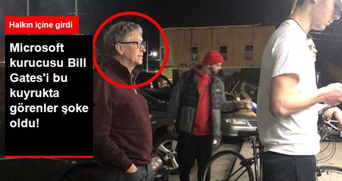 Microsoft kurucusu Bill Gates'i bu kuyrukta görenler şoke oldu!