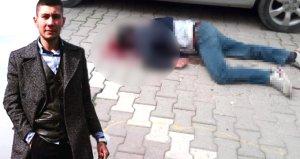 Gözü dönmüş kayınbiraderin, eniştesini öldürdüğü anlar kamerada