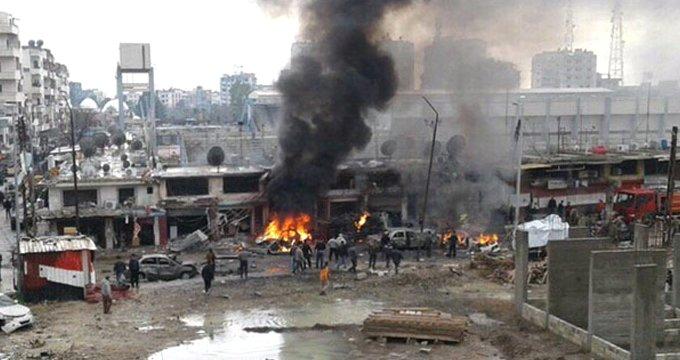 Suriye'de iç savaşın şiddetinden muaf kalan kentte büyük patlama!