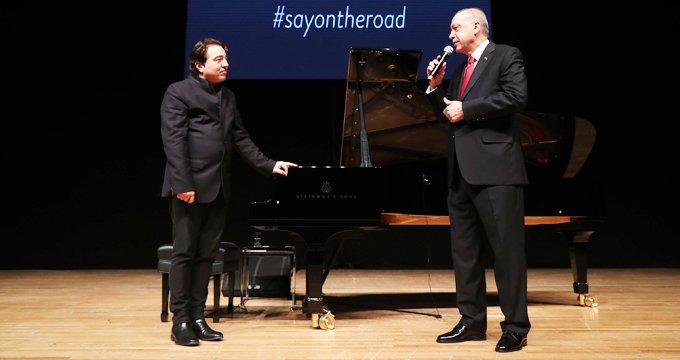 Gündeme oturan konser sonrası Fazıl Say'dan Erdoğan açıklaması