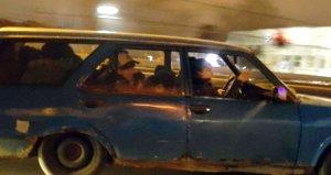 Otomobilin içine dikkatli bakanlar şaşkınlığını gizleyemedi
