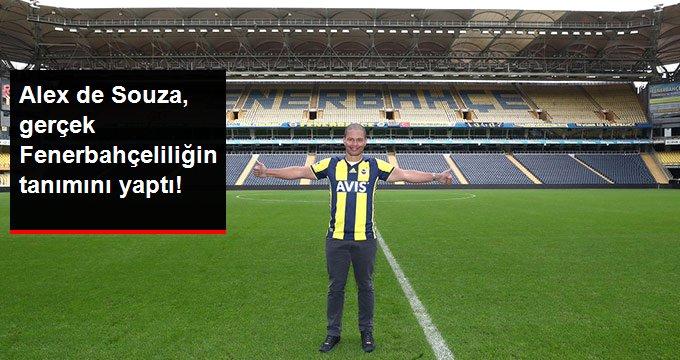 Alex de Souza, gerçek Fenerbahçeliliğin tanımını yaptı!