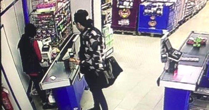 Uyanık kasiyer hırsızı kıskıvrak yakaladı