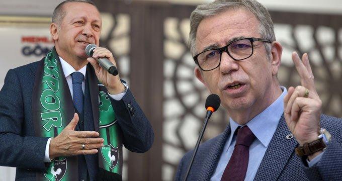 Erdoğan, Mansur Yavaş'ı seçim afişi üzerinden vurdu