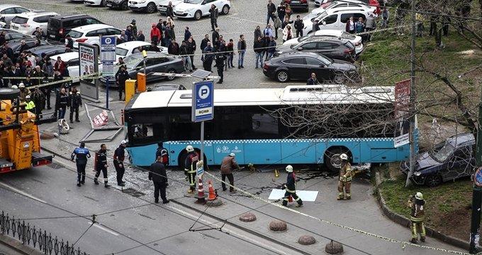 Dehşete düşüren otobüs kazasının kamera görüntüsü ortaya çıktı