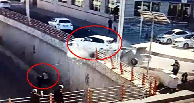 Diyarbakır'da facia! Dehşet verici kaza saniye saniye kaydedildi