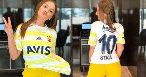 Fenerbahçe formasını giydi, dikkatleri üzerine çekti