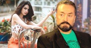 Güzel oyuncunun Adnan Oktarla olan videosu sosyal medyayı salladı
