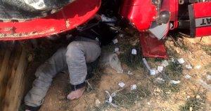Tam 36 saat traktörün altında hayat mücadelesi verdi!