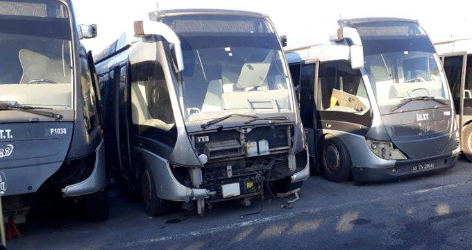 65 milyon euroya alınan metrobüsler kullanılmadan hurdaya çıktı!