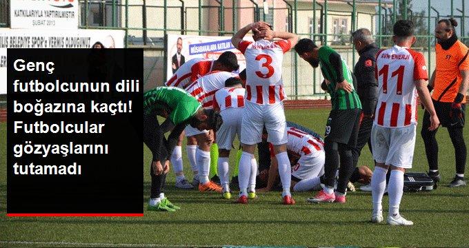 Genç futbolcunun dili boğazına kaçtı! Futbolcular gözyaşlarını tutamadı