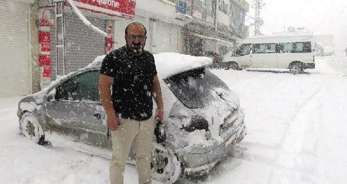 Görüntü bugün Türkiye'de çekildi! Bir kent kara teslim