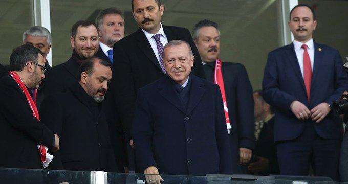Milli takıma Recep Tayyip Erdoğan desteği!