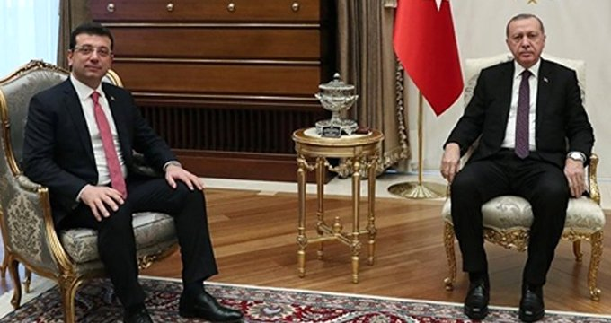 İBB Başkanı İmamoğlu, Cumhurbaşkanı Erdoğan'ı karşıladı