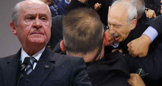 Bahçeli'den, Kılıçdaroğlu'na saldırıya ilk yorum!