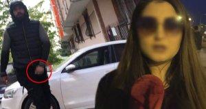 Sokak ortasında cinsel organını gösteren sapığı kameraya kaydetti!