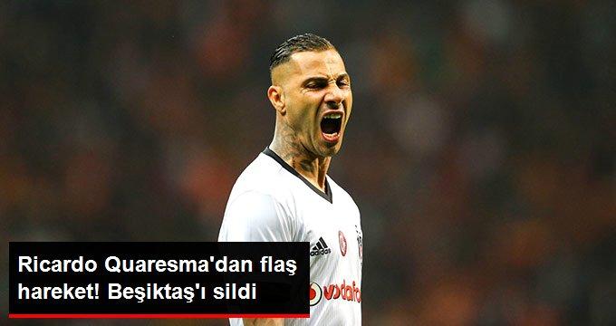 Ricardo Quaresmadan flaş hareket! Beşiktaşı sildi