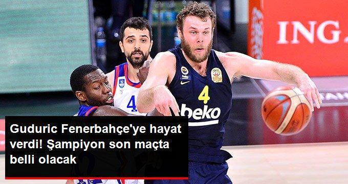 Guduric Fenerbahçeye hayat verdi! Şampiyon son maçta belli olacak