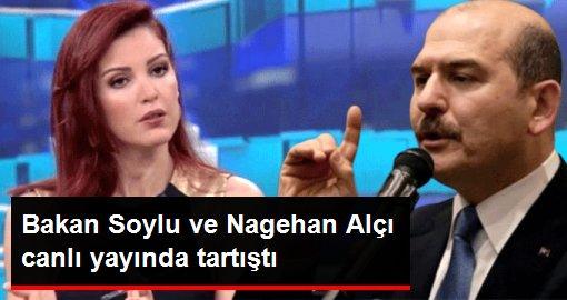 Bakan Soylu ve Nagehan Alçı canlı yayında tartıştı