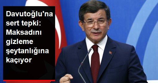 MHP'den Davutoğlu'na sert tepki: Maksadını gizleme şeytanlığına kaçmaktadır