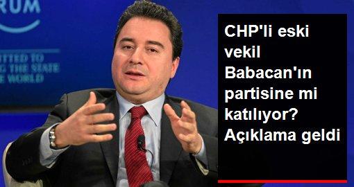 CHP'li eski vekil, Ali Babacan'ın partisine katılacağına dair iddiayı yalanladı