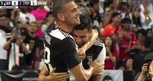 Ronaldo ve Merih Demiralin gol sevinci