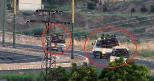 3 kamyonetin içindeki 50 teröristin hareketliliği Mardinden görüntülendi