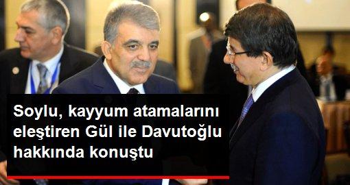 Süleyman Soylu, kayyum atamalarına tepki gösteren Gül ile Davutoğlu hakkında konuştu: Üzülüyorum