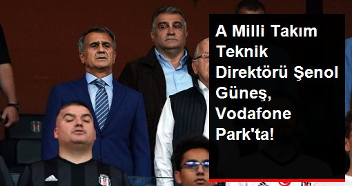 Şenol Güneş, Beşiktaş-Göztepe maçını tribünden takip etti!