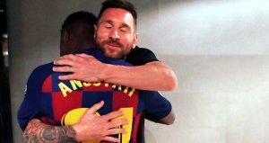 Ansu Fati, Barcelona tarihine geçti! İlk tebrik Messiden geldi