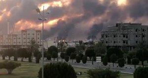 Suudi Arabistan, rafineri saldırısı nedeniyle petrol üretimini durdurduğunu açıkladı