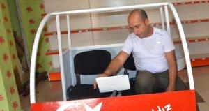 Evdeki çamaşır makinesinden uçan araba yapan Siirtli vatandaş Erdoğana seslendi